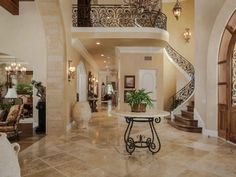 Entryway & staircase of luxury home in San Diego, California San Diego, Basement Kitchen, Florida Home, Estate Homes, Modern House Design, Home Projects, Future House, Luxury Homes, Beautiful Homes