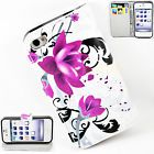 Stand Flip Leather Phone Cover Silicone Rubber Case For Apple iPhone 4 4S 4G 4GS