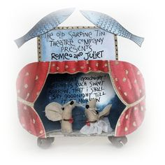The Old Sardine Tin Theatre Co. Presents...... £29.00 by Flossie Limejuice on Folksy. Adorable.