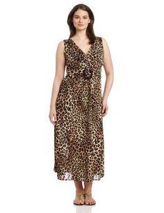 Star Vixen Women's Plus-Size Sleeveless O-Ring Maxi
