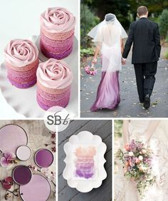 Orchid Ombre Inspiration Board Pantone Colour of the Year 2014: Radiant Orchid | SouthBound Bride #radiantorchid #2014weddingtrends #pantone