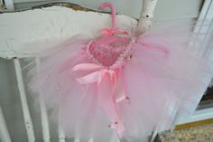 Child's pink tutu with roses fits 36 month by ShuhpuppyAndDeppy, $20.00