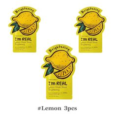 Tonymoly I'm Real Mask Sheet Lemon Brightening Skin Care Korea Cosmetics-3PCS #TONYMOLY