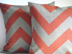 SET Of TWO 16x16 Pillow Cover In Chevron by simplydivinebyjoann