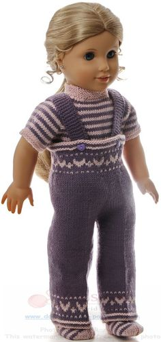 18 doll knitting patterns - I thought that a tunic would be really nice for this ensemble