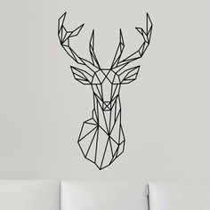 Aliexpress.com: Comprar 2016 Nuevo Diseño Geométrico Geometría Deer Head Etiqueta de La Pared Animal Series calcomanías de Vinilo 3D Wall Art Custom Home Decor Tamaño 51x86 cm de etiqueta fiable proveedores en New nest