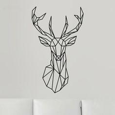 2016 New Design Geometric Deer Head Wall Sticker Geometry Animal Series Decals 3D Vinyl Wall Art Custom Home Decor Size 51x86 cm-in Wall Stickers from Home & Garden on Aliexpress.com | Alibaba Group