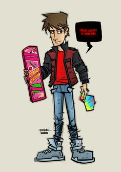 Marty McFly BTTF by ~JustinPeterson on deviantART