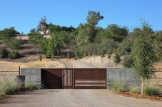 So simple. But I love that gate. BAR Architects Design The Law Winery In California