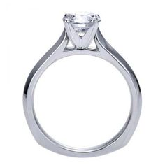 Perfect solitaire engagement ring with a slight euro-shank!