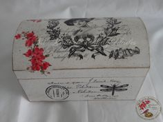 Todo transfer (pág. 372) | Aprender manualidades es facilisimo.com Decoupage Furniture, Decoupage Box, Decoupage Vintage, Vintage Box, Shabby Vintage, Wooden Jewelry Boxes, Wooden Boxes, Decoration Shabby, Painted Boxes
