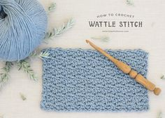 How To: Crochet The Wattle Stitch - Easy Tutorial by Hopeful Honey