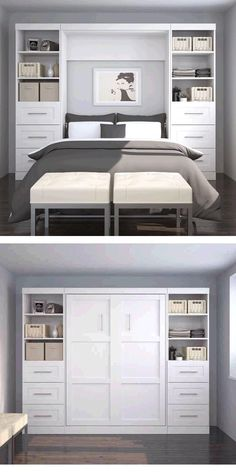 Fine Schlafzimmer Ideen Kleiner Raum that you must know, Youre in good company if you?re looking for Schlafzimmer Ideen Kleiner Raum Guest Room Decor, Guest Room Office, Small Bedroom Office, Small Space Bedroom, Guest Rooms, Beds For Small Spaces, Murphy Bed Plans, Murphy Beds, Small Room Design
