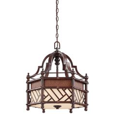 Kichler Lighting (43248CYZ) Rum Cove Pendant 3 Light shown in Cayman Bronze Finish