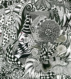 doll zentangle  | am_tm_mitsukos favorite photos and videos | Flickr