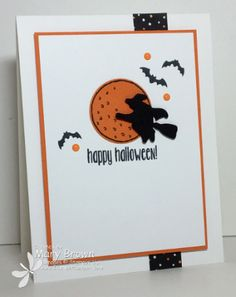 stampercamper.com - The Create with Connie and Mary Design Team Saturday Blog Hop theme was Colors of Halloween.  I decided to keep it nice and simple with black and orange and to keep my card clean and simple!  Head over to my blog for the details and to start the hop.  Set:  Spooky Fun