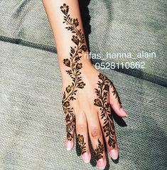 Henna Tattoo Designs Simple, Finger Henna Designs, Arabic Henna Designs, Mehndi Designs For Fingers, Mehndi Art Designs, Stylish Mehndi Designs, Beautiful Henna Designs, Latest Mehndi Designs, Henna Pictures