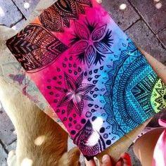 Arcoiris uploaded by jose morichetti on we heart it Mandala Art, Mandala Doodle, Mandala Drawing, Doodle Art, Art Tumblr, Tumblr Drawings, Arm Tattoo, Easy Zentangle Patterns, Sketch Style
