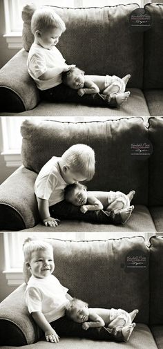 The Sweetest Baby Pictures I've Ever Seen with an older sibling. precious.