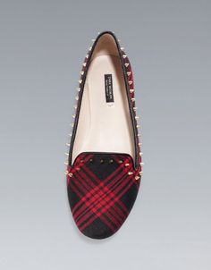 TARTAN SLIPPERS - Shoes - Woman - New collection - ZARA