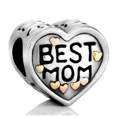 Pugster Heart Best Mom Charms Beads Fit Pandora Chamilia Biagi Charms Bracelet - http://cheune.com/a/67410402698442337