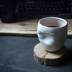 The new wine cups were an unequivocal hit at @handmadetoledo Maker's Mart yesterday, so I'll be making more over the next few weeks. Can't wait to show you all the glazes, but for right now, this is the only one left. I think I'll enjoy a glass of wine in celebration of introducing a fun new item. Best part? They're dishwasher safe and so comfy to hold on. I'm such a fan of ergonomics.  Cheers! Potters Clay, Pottery Mugs, Ceramic Pottery, Clay Cup, Wheel Thrown Pottery, Pottery Classes, Chawan, Pottery Designs, Tea Bowls