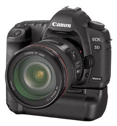 Canon 5D MkII with battery grip. Exactly what I want for my photography rig.