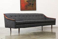 Mid Century Modern Walnut Sofa by VintageSupplyLA on Etsy