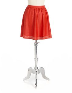 Lord & Taylor Faux Leather Skirt 'Red'y For Fall | MissyOnMadison.com