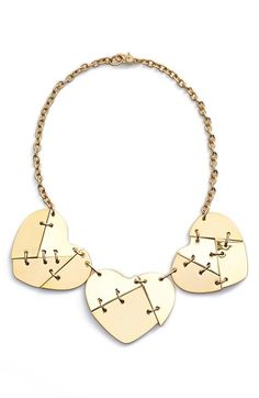 Free shipping and returns on MARC BY MARC JACOBS 'Broken Hearted' Collar Necklace at Nordstrom.com. Fractured hearts band together on a chic collar necklace plated in gold.