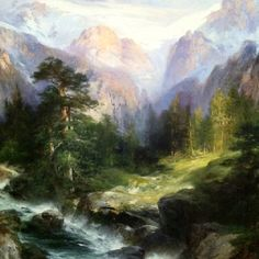 Beautiful landscape painting