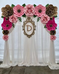 A beautiful flower backdrop made for Haydee's baby shower. Thank you 🌿💖… – Jenita M. A beautiful flower backdrop made for Haydee's baby shower. Thank you 🌿💖… A beautiful flower backdrop made for Haydee's baby shower. Thank you 🌿💖🌸 Paper Flower Wall, Paper Flower Backdrop, Giant Paper Flowers, Wedding Flower Backdrop, Birthday Party Decorations, Baby Shower Decorations, Wedding Decorations, Birthday Parties, Sweet Sixteen Decorations