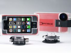 Optrix case transforms your iPhone 4/4S or iPod Touch 4G into a rugged action sports video camera. Bump, bash, crash, and splash with your phone safely housed in our polycarbonate shell and rubberized inner iPhone case. Perfect for sports like skiing, biking, skating, motocross, auto-racing and many more.
