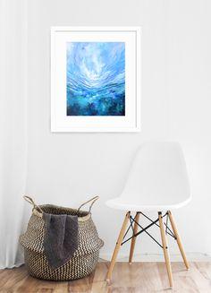 Dream A Little Dream - Art Print — Kendra Castillo Interior Design Work, Beautiful Interior Design, Blue Abstract, Abstract Landscape, Dream Art, Blue Art, Fine Art Paper, Framed Art, Fine Art Prints