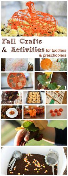 Fall Activities for Toddlers  Preschoolers