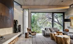 """ARRCC builds """"afro-minimalist"""" safari lodge in South African wildlife reserve – AAH Architecture Durable, Sustainable Architecture, Interior Architecture, Vernacular Architecture, Modern Interior, Tiny House, Les Hamptons, Sand Game, Game Lodge"""