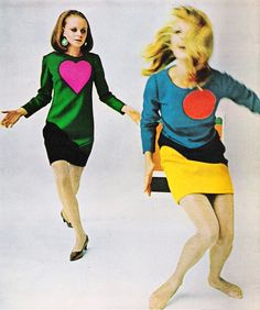 Pop-art dresses Yves Saint Laurent 1966