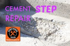 DIY:: How To Get Your Curb Appeal Back in One Day- Without Spending tons of $$$! Super Simple Cement Repair !