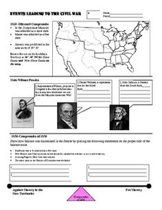civil war timeline is a great way to help your students review the events leading up to the. Black Bedroom Furniture Sets. Home Design Ideas
