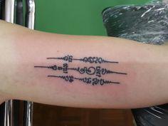 #traditional Thai bamboo tattoo#