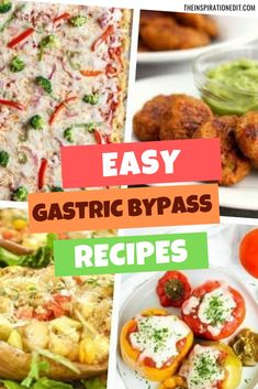 Finding healthy bariatric recipes after gastric bypass surgery doesn't have to be stressful. Here is a list of tasty and easy gastric bypass recipes which you can cook for yourself or as a family meal. High Protein Snacks, High Protein Recipes, Diet Recipes, Cooking Recipes, Healthy Recipes, Protein Foods, Healthy High Protein Meals, Protein Cake, Protein Power