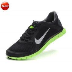 Chaussures Nike Homme Noir Vert, Nike Free 4.0 V3,579958-005 (DkECV6) meilleur prix en France