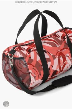 * Abstract Curls Duffel Bag / Gym Bag by #Gravityx9 at Redbubble * Matching School notebooks, backpacks and more are available! * Abstract Curls - Burgundy, Coral, Pink * duffel bag * back to school supplies high school * back to school supplies * back to school shopping * gym bag for teens * Gym Bag for school * High school shopping list * school supplies * school supplies high school * Gym Bag for adults  * #duffelbag #dufflebag #gymbag #workoutbag #backtoschool #pink #coral #cinnamon 0820 Coral Color, Coral Pink, Back To School Shopping, High School, Back To School Backpacks, School Notebooks, Bags For Teens, Duffel Bag, School Bags