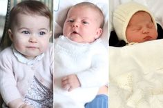 Princess Charlotte on May 2, 2015 after her birth, at 3 weeks in a photo taken by The Duchess of Cambridge, and at 6 weeks in a photo taken by The Duchess of Cambridge.