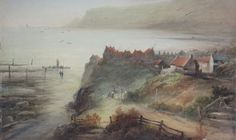 Frederick William Booty (British Robin Hoods Bay, watercolour signed and dated Robin Hoods Bay, Frederick William, The Saleroom, Lots For Sale, Old Pictures, Yorkshire, Amazing Art, Buildings, Auction