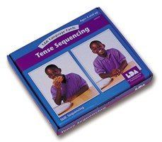 Tense Sequencing Flashcards by LDA. $29.95. An ideal way to help children practice tenses and early sequencing. The images in each three-card sequence have been specifically chosen to engage the interest of young children and to promote discussion. The photographic cards illustrate the past, present and future tense of 13 regular and irregular verbs. This set of 39 photographic cards includes the following: REGULAR VERBS 1. To peel (an orange): Peel, Peeling, Peeled 2. To...