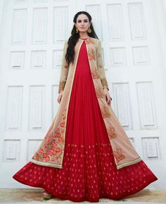 #hey @a1designerwear . Item code: APRL5599 . Buy Magnificent Red & Cream Designer #salwar #kameez #onlineshopping with #worldwideshipping at  https://www.a1designerwear.com/magnificent-red-cream-designer-salwar-kameez   . #a1designerwear #a1designerwear . #instashop #worldwide #thankyou