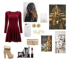 """""""Christmas Party"""" by meganh822 on Polyvore featuring Casetify, LORAC, MAC Cosmetics and Yves Saint Laurent"""
