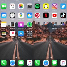 Iphone Home Screen Layout, Iphone App Layout, Organize Apps On Iphone, Landscape Art Lessons, Minimalist Phone, Phone Organization, Ios, Game App, Aesthetic Iphone Wallpaper