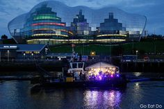 Maximo Park performing on the Sir Bobby Robson at the opening ceremony of the Great Exhibition of the North.
